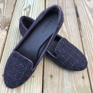 Bakers Women Shoe Slip On Flat Purple Festival Fab